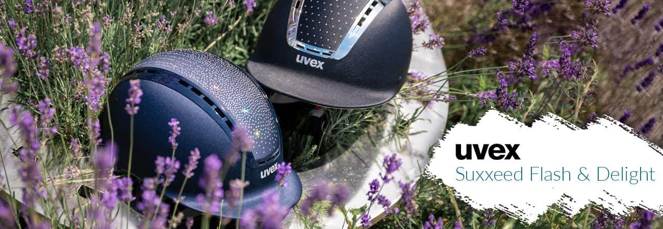 Uvex riding helmets
