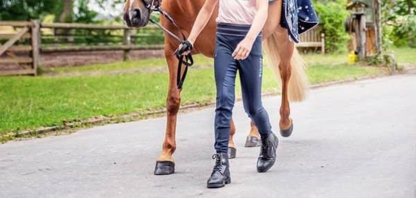 Reithandschuhe Reiter Hose Größe 110-158 Vollbesatz Reithose blau schwarz