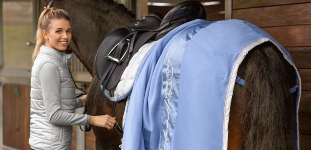 coolgrey ESKADRON Schabracke COTTON Classic Sports Fr/ühjahr//Sommer 2020 Pony Dressur