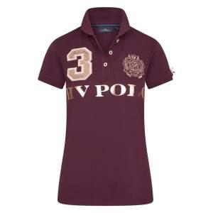 Poloshirt Damen Favouritas Luxury in Dark Berry