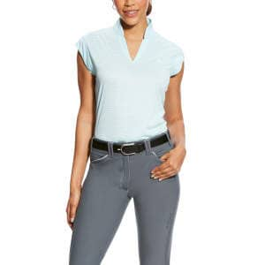 Damen-Shirt Cambria Cap Sleece in Sky drift