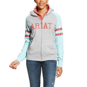 Damen-Hoodie WMS Booster in grey