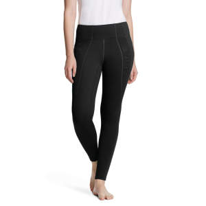 Damenreitleggings Winter WMS Attain Thermal mit Voll-Grip in  schwarz
