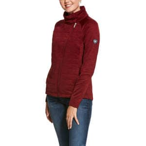 Damensweatjacke Vanquish in bordeaux