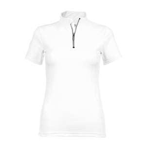Funktionsshirt Damen Cadtown Zip kurzarm in weiß
