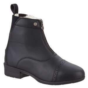 Winter- Stiefelette Front Zip IceLock Merino FZ in schwarz