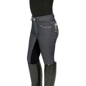 Damenreithose Dina in grau/schwarz