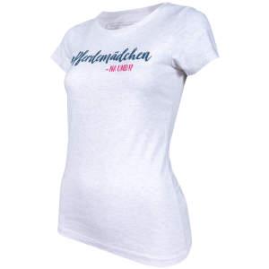 Damen- T-Shirt Pferdemädchen -na und? in Grey Melange