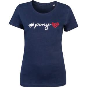 T-Shirt Kinder #Pony-love in dunkelblau