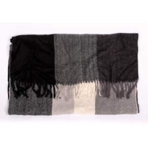 Schal Karo in schwarz