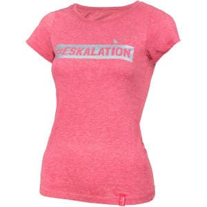 "T-Shirt ""Eskalation"" mit silber Glitzer in heather cranberry"