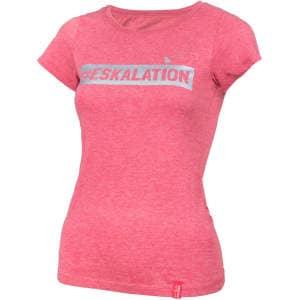 """T-Shirt """"Eskalation"""" mit silber Glitzer in heather cranberry"""