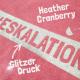 "Thumbnail T-Shirts: T-Shirt ""Eskalation"" mit silber Glitzer in heather cranberry 1032650870275 von #soulhorse"