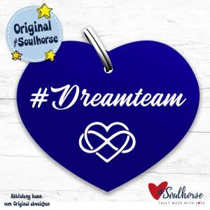 Dreamteam Herzmarke in blau