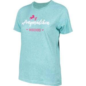 Kinder- T-Shirt #Pferdemädchen in mint-grün