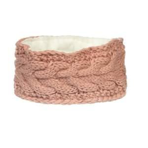 Stirnband Strick Fleece in rosa
