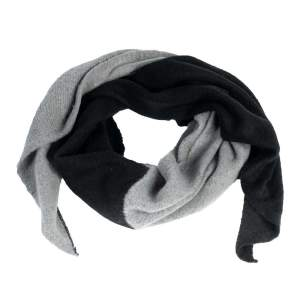 Schal zweifarbig schwarz/grau