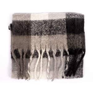 Schal Dreads in schwarz/grau