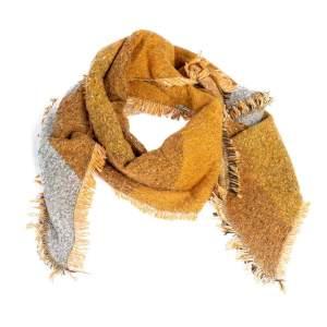 Schal Trapez in senfgelb/beige