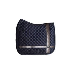 Dressurschabracke Leather Deluxe in Navy Blue in Cob