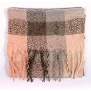 Schal Dreads in rosa/grau