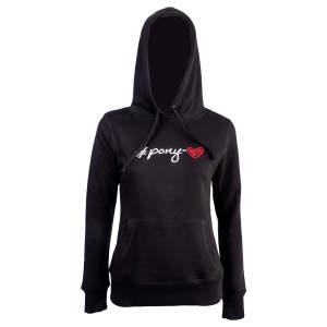 Sweatshirt Damen #Pony-love in schwarz