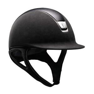 Reithelm Premium Leather Chrome in schwarz