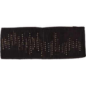 Stirnband Strass in schwarz