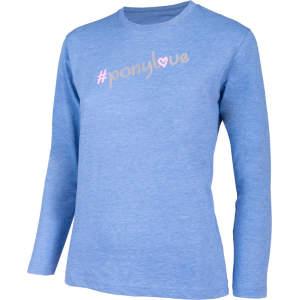 Kinder-Shirt Ponylove langarm in blau