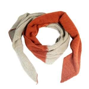 Schal zweifarbig rostrot/beige