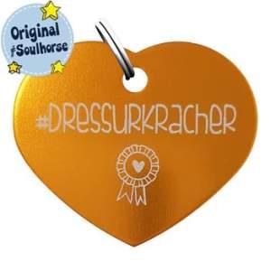 Herzmarke Dressurkracher in gold
