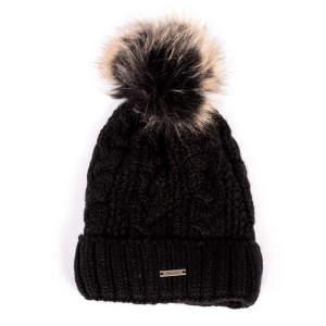 Mütze Zopf in schwarz