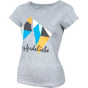 Kinder- T-Shirt Polygon #pferdeliebe in grau