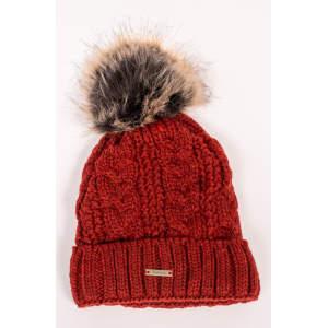 Mütze Zopf in rot