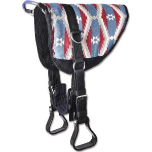 Reitkissen Bare-Back-Pad in blau/rot