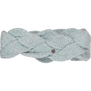 Stirnband Zopf in eisblau