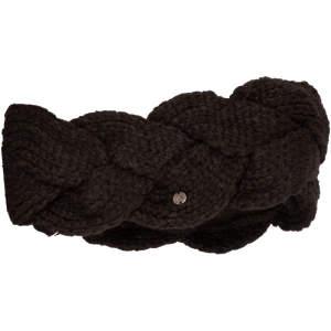 Stirnband Zopf in schwarz