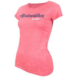 Damen- T-Shirt Pferdemädchen -na und? in Heather Cranberry