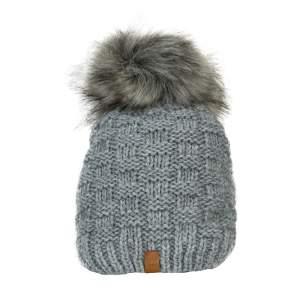 Mütze Strick in grau