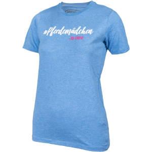 Kinder- T-Shirt #Pferdemädchen in blau