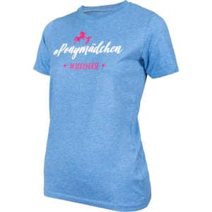 Kinder- T-Shirt #Ponymädchen in blau