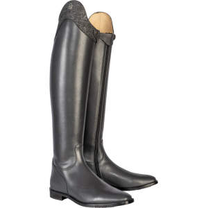 Reitstiefel Insignis Slim mit Lizard-Optik in anthrazit