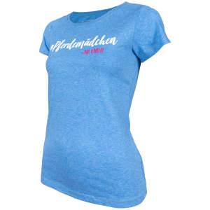 Damen- T-Shirt Pferdemädchen -na und? in Heather Midblue