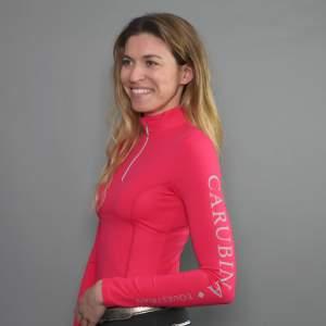 Funktionsshirt Damen Caporto Zip langarm in pink