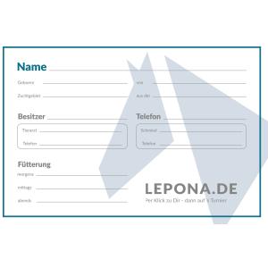Boxenschild Lepona in weiß