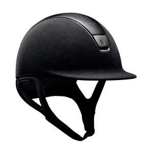 Reithelm Premium Leather Black Chrome in schwarz