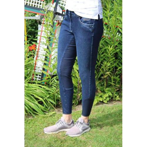Pikeur - Damenreithose Darjeen Jeans Grip in nachtblau