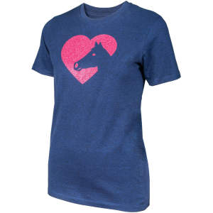 Kinder- T-Shirt Herzenspferd in navy