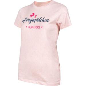 Kinder- T-Shirt #Ponymädchen in rosa