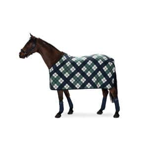 Abschwitzdecke Fleece Check (Classic Sports FS19) in navy
